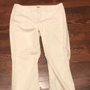 White wide leg/boot cut pants